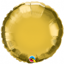 "Gold Mini Foil Balloon (9"" Round Air-Fill) 1pc"